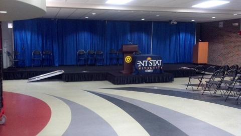aable rents installs custom stages for universities all over northeastern ohio including kent state burton