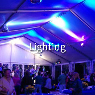 AAble Rents provides lighting for all corporate events