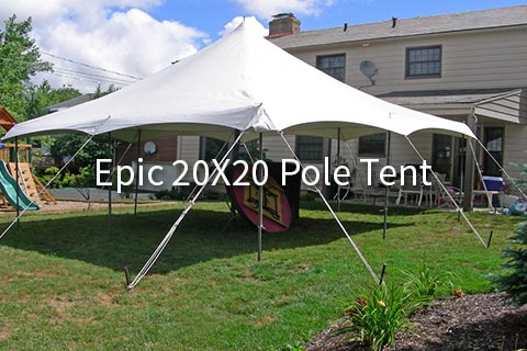 Choose the 20×30 package that accommodates 60 & Epic 20X20 Pole Tent Archives - AAble Rents