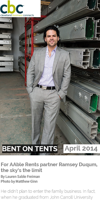 Ramsey Duqum- Owner of AAble Rents in Ohio was featured in CBC magazine April 2014 Center Point Article.
