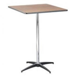 "30"" square high top table"