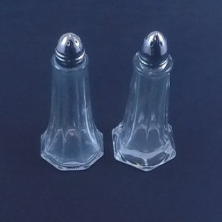 Glass Salt & Pepper Shakers (Tall)