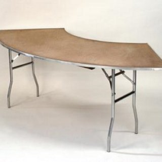 4' or 5' Serpentine Table