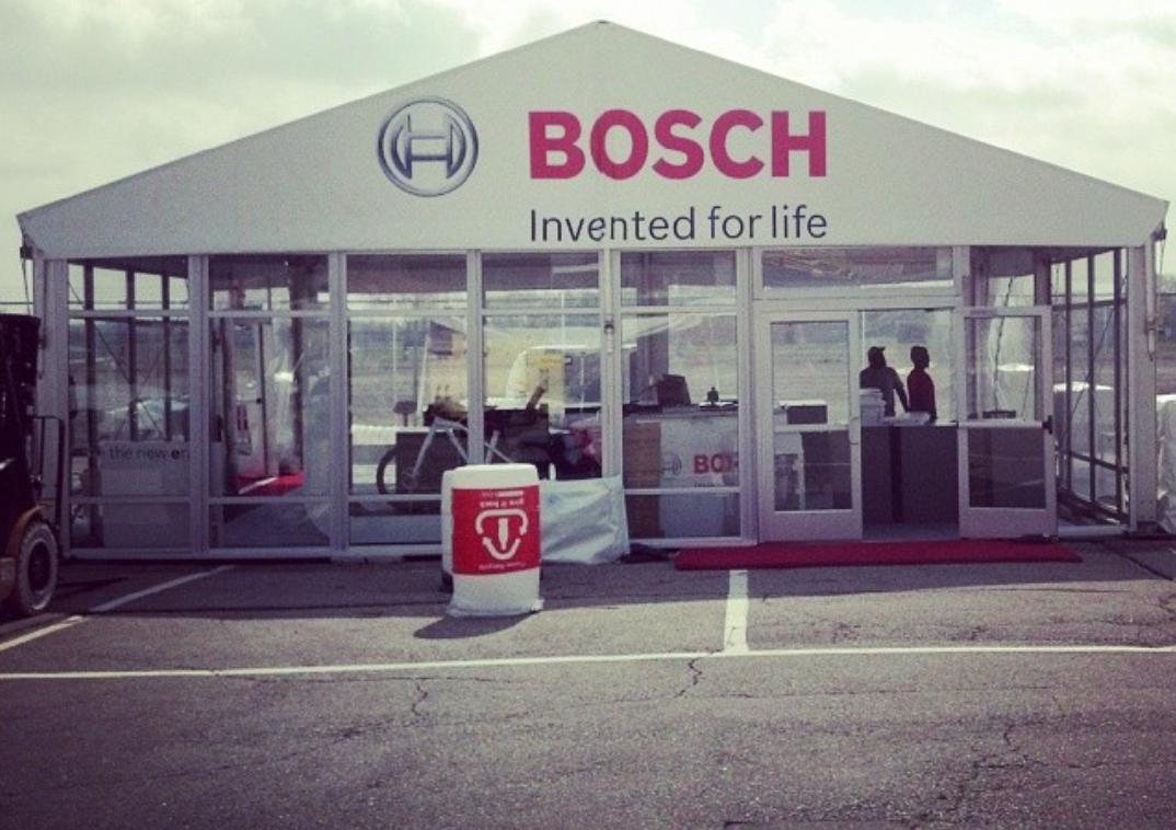 Bosch Glass Tent Wall Michigan Motor Speedway